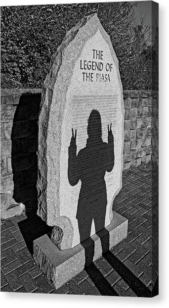Monumental Shadows Peace Out Canvas Print
