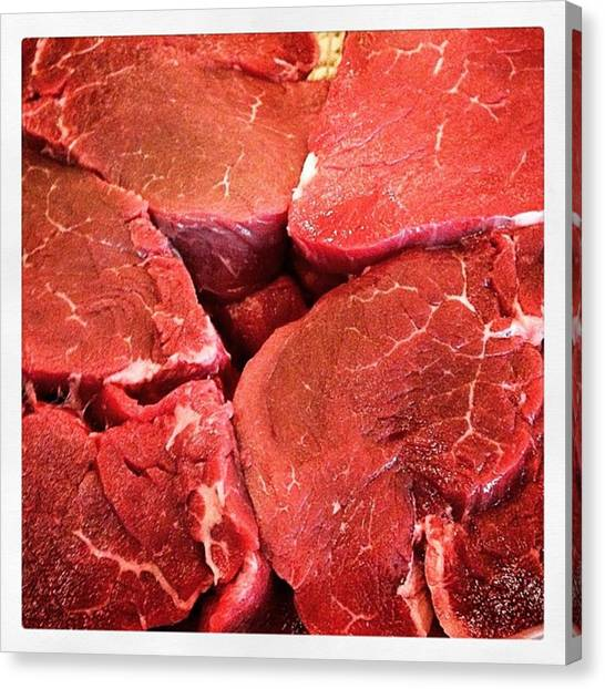 Fillet Canvas Print - Beef by Keith Laferla