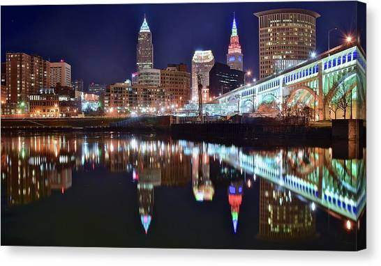 Cleveland Indians Canvas Print - Mood Lighting by Frozen in Time Fine Art Photography