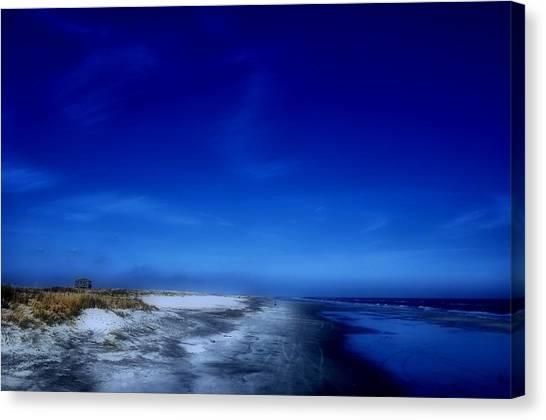 Mood Of A Beach Evening - Jersey Shore Canvas Print