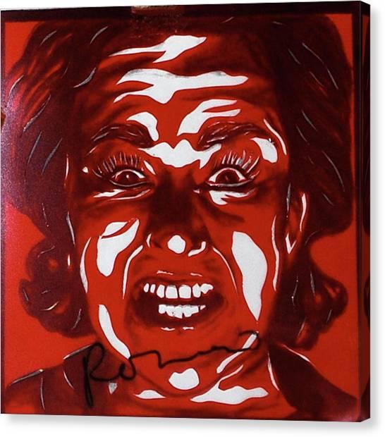 Mood Swings  Red Canvas Print by Joseph Lawrence Vasile