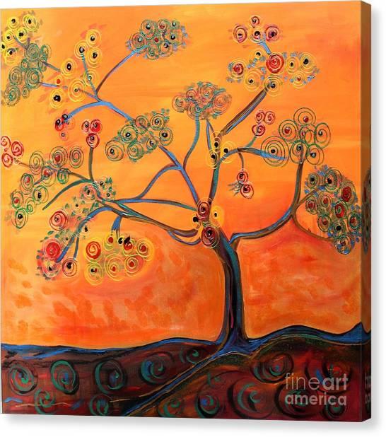 Orange Flamboyan Canvas Print