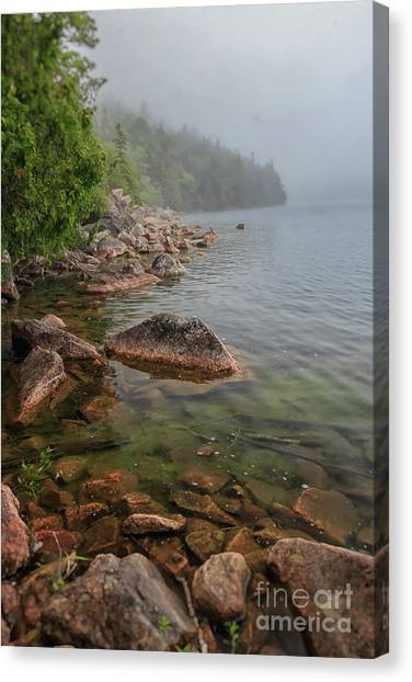 Moody And Magical Jordan Pond Canvas Print