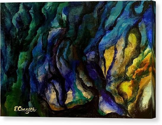Moody Bleu Canvas Print