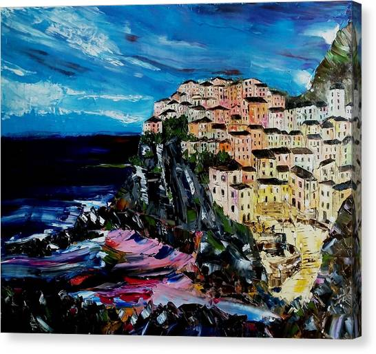 Moody Dusk In Italy Canvas Print