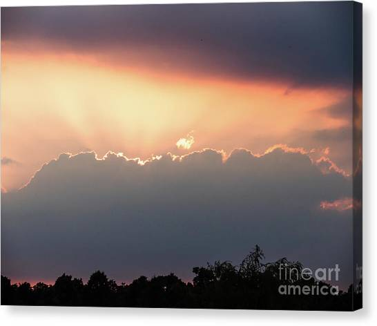 Moody Sunset Clouds Canvas Print