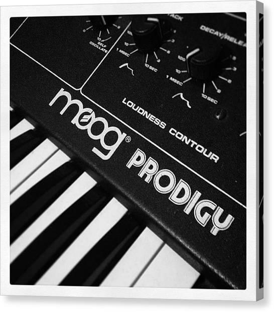 Synthesizers Canvas Print - Moog Prodigy by Jeffrey Domke