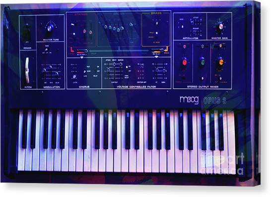 Synthesizers Canvas Print - Moog Opus 3 Euphoria by Joseph Mosley