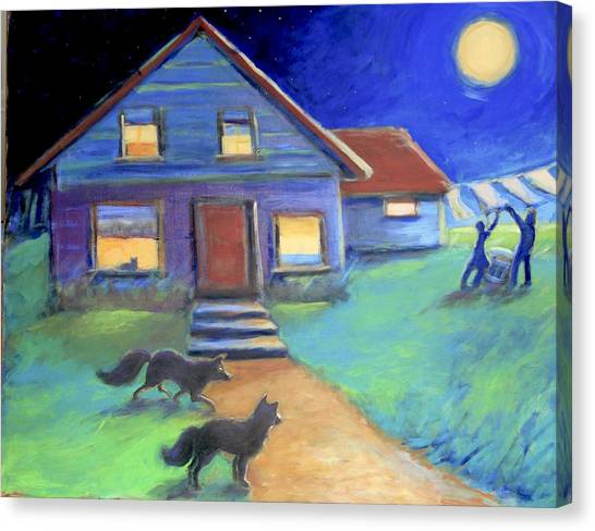 Moolight Laundry Canvas Print