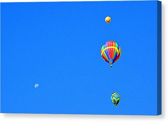 Canvas Print featuring the photograph Moon At 8 Oclock by AJ Schibig
