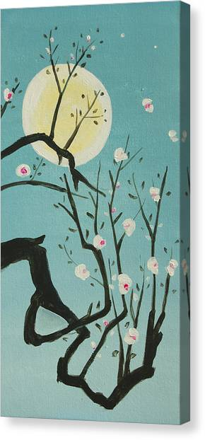 Moon Blossoms Canvas Print