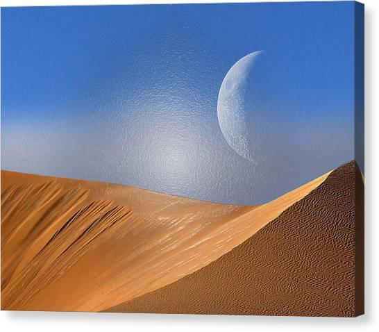 Arabian Desert Canvas Print - Moon Day by Scott Mendell