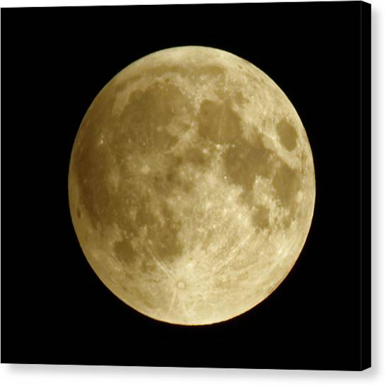 Moon During Eclipse Canvas Print