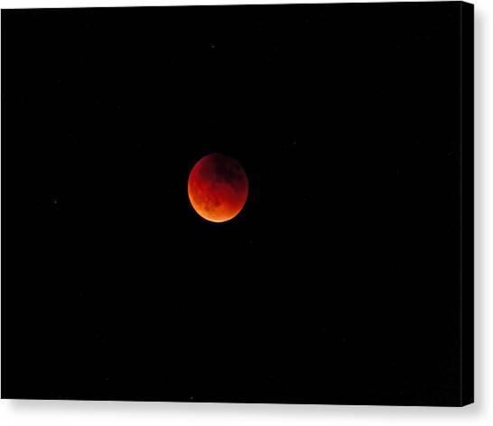 Moon Eclipse 9/27/2015 Canvas Print