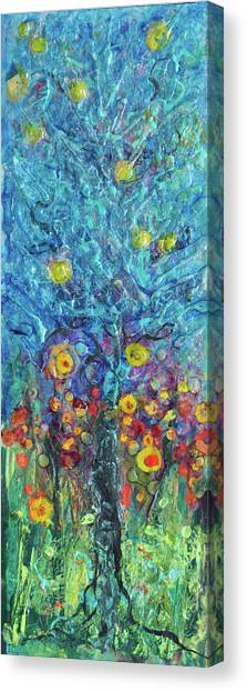 Moon Flowers Canvas Print