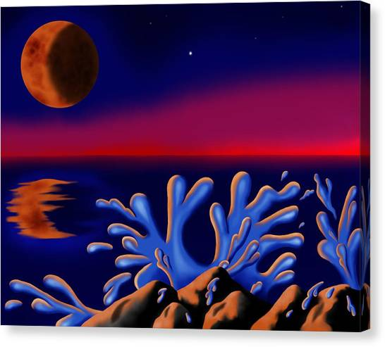 Moon-glow II Canvas Print