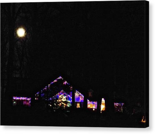 Moon Lights Canvas Print