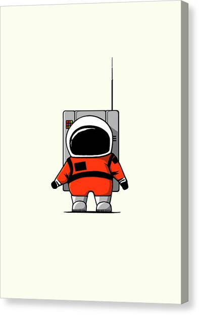 Science Fiction Canvas Print - Moon Man by Nicholas Ely