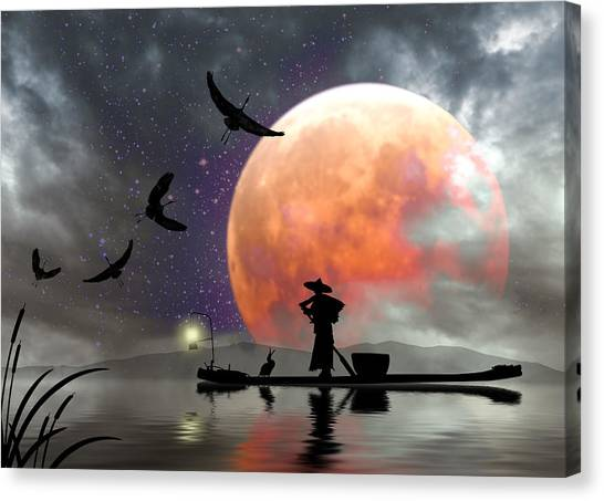 Moon Mist Canvas Print