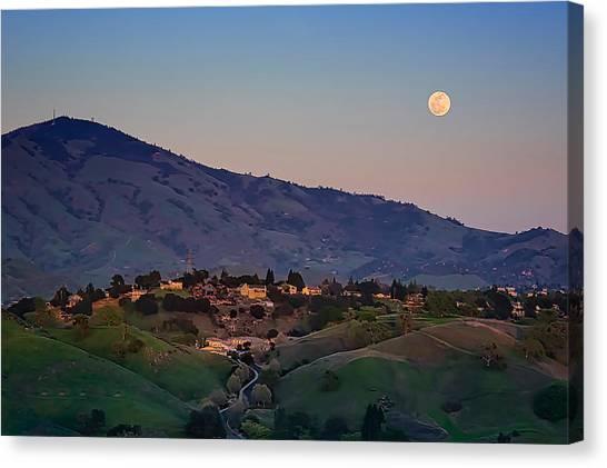 Moon Over Diablo Canvas Print