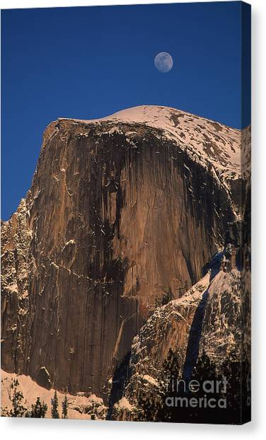 Moon Over Half Dome Canvas Print