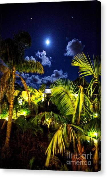 Moon Over Islands Canvas Print by Rick Bragan