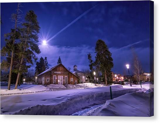 Trail Canvas Print - Moon Over Museum by Michael J Bauer