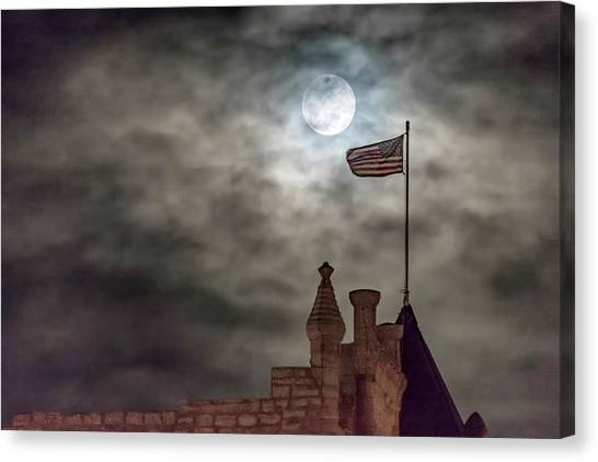 Moon Over The Bank Canvas Print