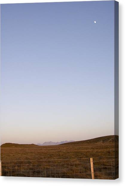 Moon Over The Cuillins Canvas Print by Dan Andersson
