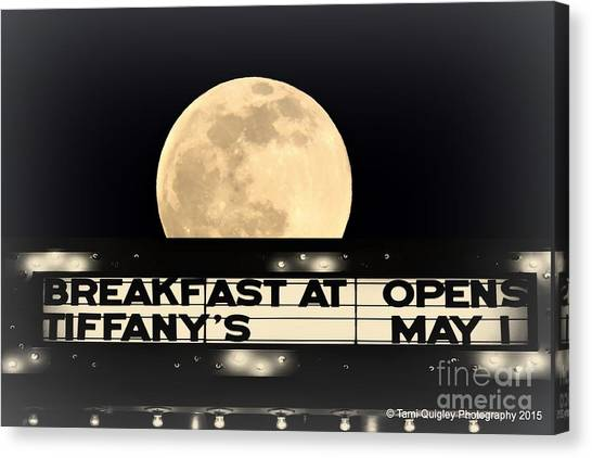 Moon Over Tiffany's Canvas Print