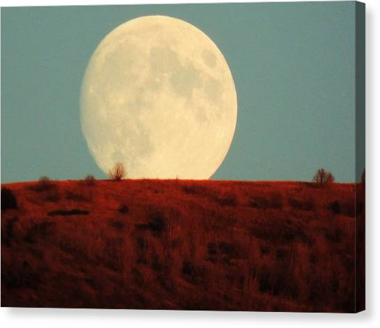 Moon Over Utah Canvas Print