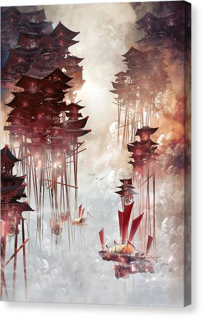 Moon Palace Canvas Print