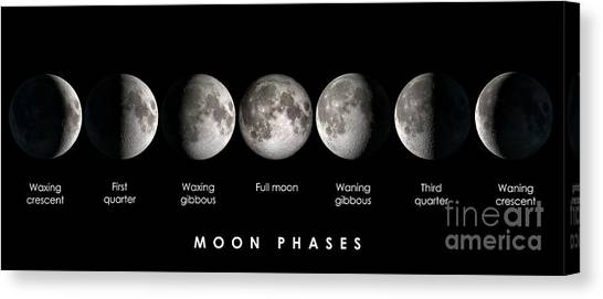 Satellite Canvas Print - Moon Phases by Delphimages Photo Creations