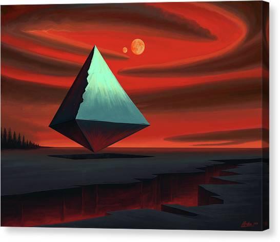 Forbidden Planet Canvas Print - Moon Pyramid by Remus Brailoiu