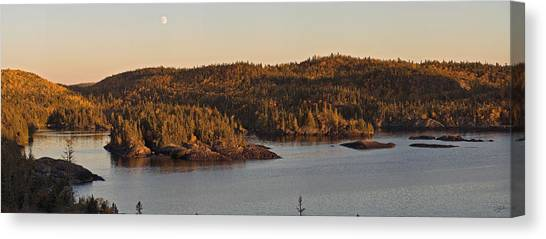 Moon Rise Over Pukaskwa Canvas Print