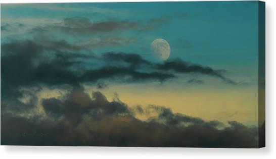 Moon Rise Sun Set Canvas Print by Steven Poulton