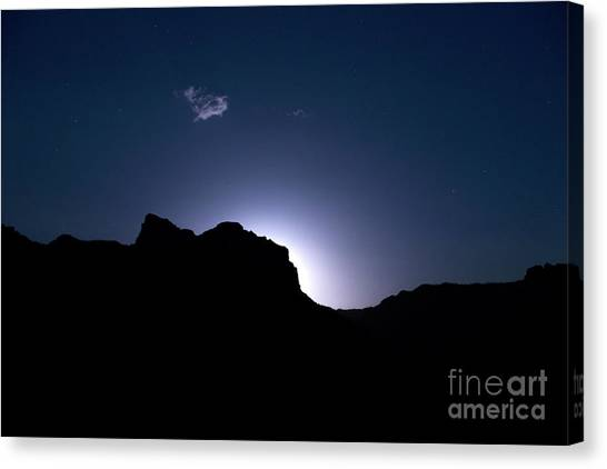 Mountain West Canvas Print - Moon Rising by Diane Diederich