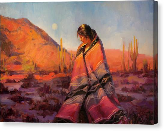 Magician Canvas Print - Moon Rising by Steve Henderson