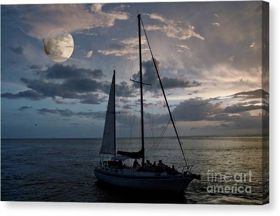 Moon Sail Canvas Print by Digartz - Thom Williams