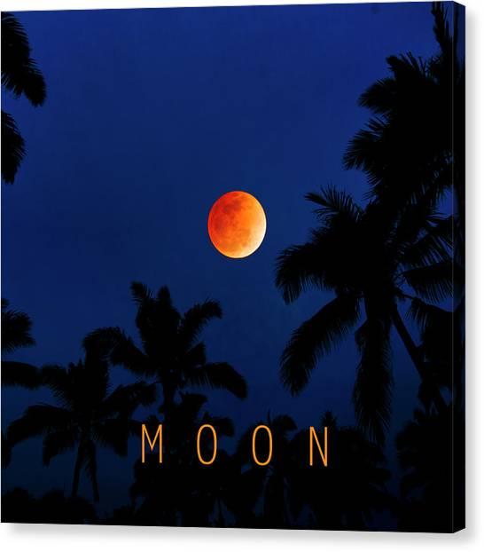 Blood Moon Canvas Print - Moon. by Sean Davey