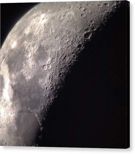 Science Canvas Print - Moon Shadow by Gabrielle Coleman