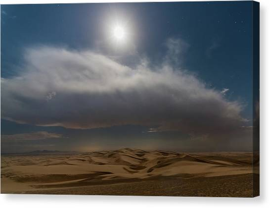 Moon Sparkle Canvas Print