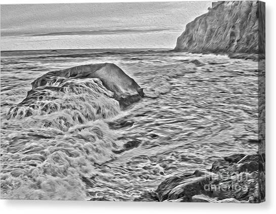 Moon Tides Canvas Print