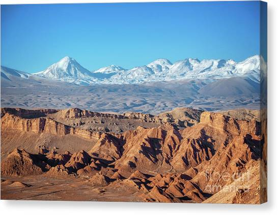 Andes Mountains Canvas Print - Moon Valley Atacama Desert by Delphimages Photo Creations