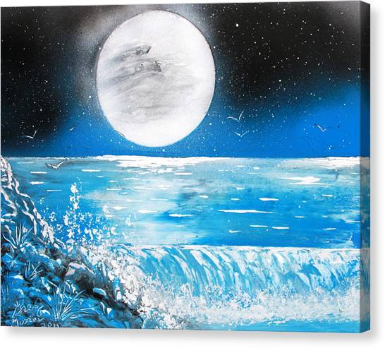 Moon Wave Canvas Print