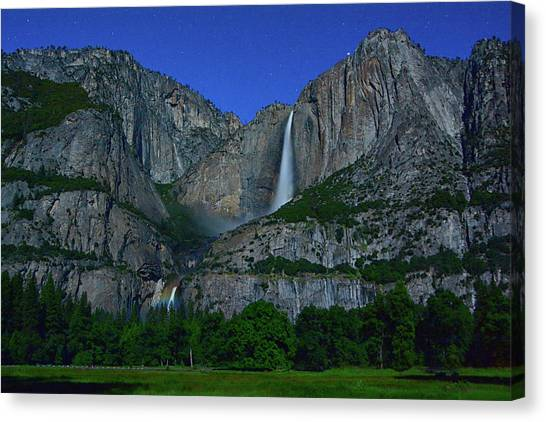 Moonbow Yosemite Falls Canvas Print