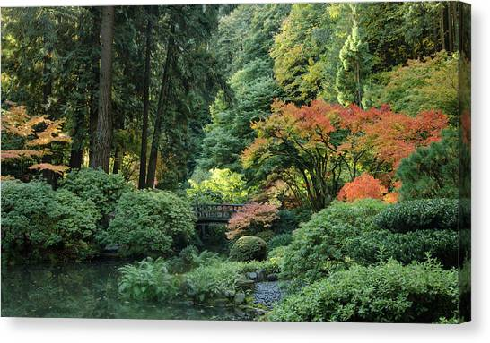 Moonbridge Autumn Serenade Canvas Print