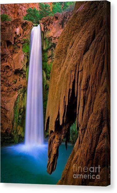 Colorado River Canvas Print - Mooney Falls by Inge Johnsson
