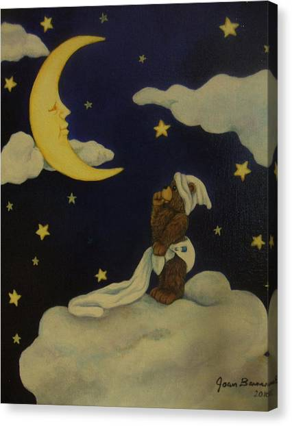 Moongazer Canvas Print by Joan Barnard