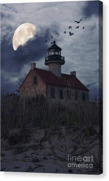 Moonlight At East Point Canvas Print